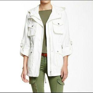 NWT BCBG Generation white anorak field jacket